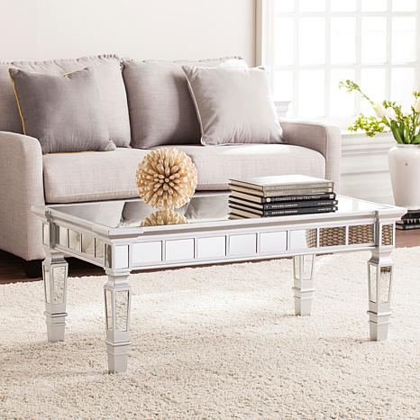 Hermoine Glam Mirrored Rectangular Cocktail Table