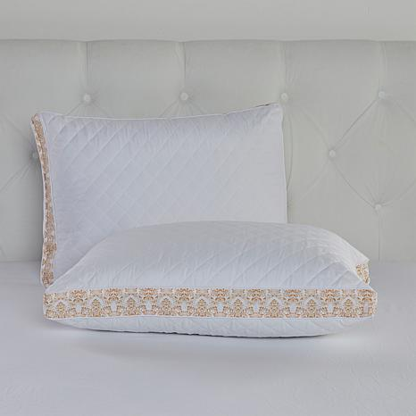 Highgate Manor Printed Jacquard Gusset Pillows 2pk - King