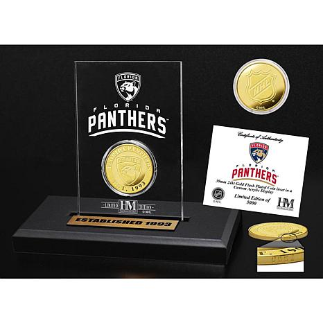 Highland Mint Florida Panthers Gold Coin Etched Acrylic