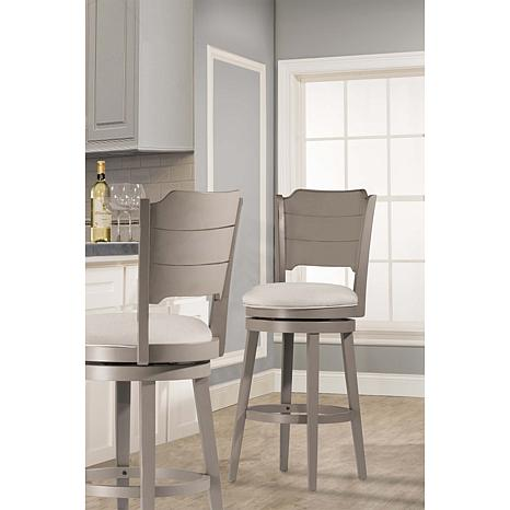 Hillsdale Furniture Clarion Swivel Counter Stool - Distressed Gray/Fog