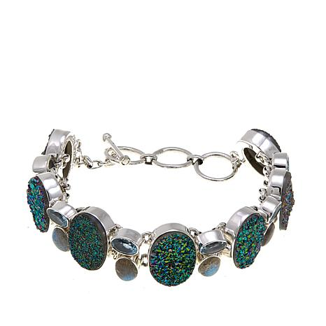 Himalayan Gems™ Green Drusy and Gem Bracelet
