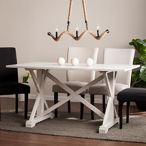Holliwell Distressed Farmhouse Dining Table