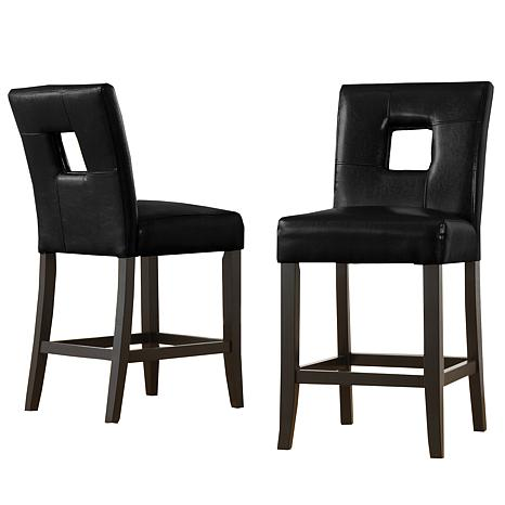 home origin look out squared back counter height chairs set of 2