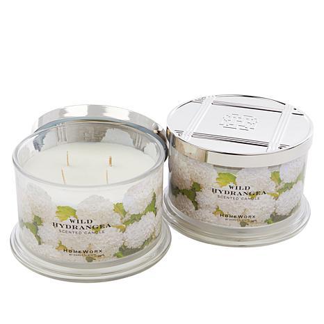 HomeWorx by Harry Slatkin 2-pack 4-Wick Candles - Wild Hydrangea