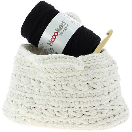 Hoooked Revisto Basket Kit with Zpagetti Yarn - Off White