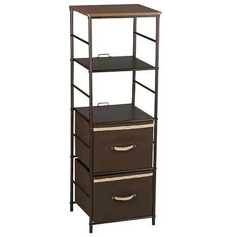 Household Essentials Bronze Storage Tower