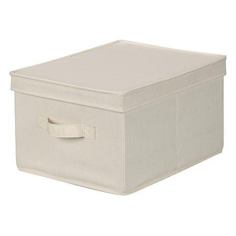 Household Essentials Canvas Large Storage Box - Natural