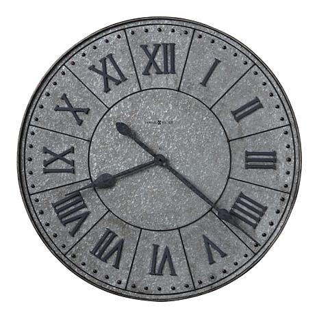 "Howard Miller ""Manzine"" Large Metal Wall Clock"
