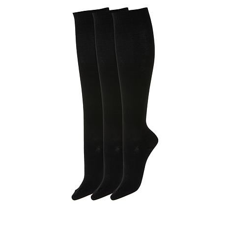 Hue 3-pack Flat Knit Knee Sock