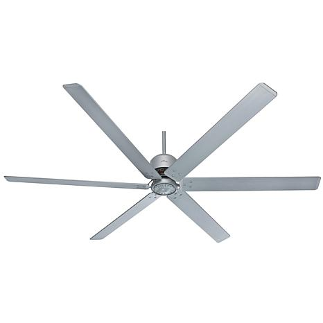 """Hunter 96"""" HFC Satin Metal Ceiling Fan with Wall Control, Damp Rated"""