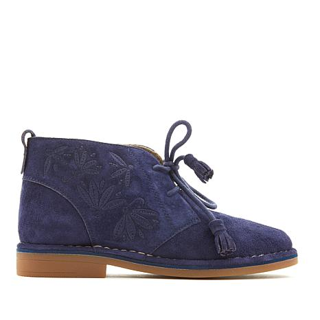 bb3de1532dd Hush Puppies Cyra Catelyn Embroidered Suede Bootie