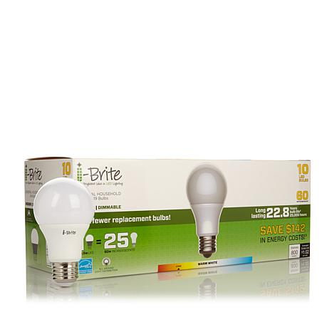 I Brite 60 Watt Equivalent Led Light Bulb 10 Pack Soft White 8262474 Hsn