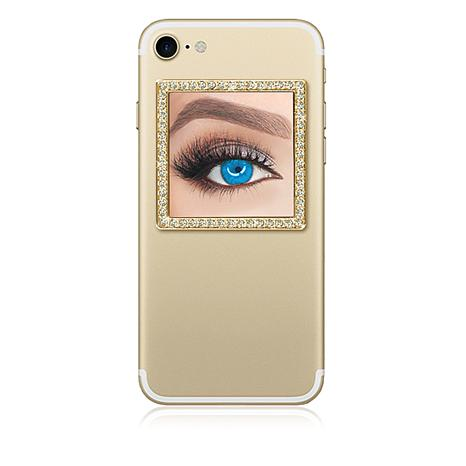 Idecoz square restickable phone mirror goldtone for Mirror your phone