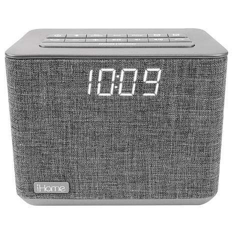 iHome Bluetooth Dual Alarm FM Clock Radio with USB Charging