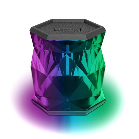 iHome Color Changing Wireless CrystalFaceted Speaker