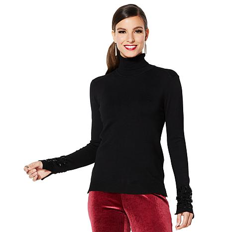 IMAN Global Chic Dressed & Ready Jewel-Accented Turtleneck Tunic