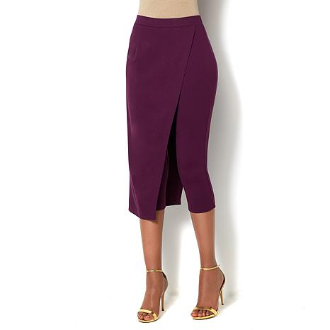 IMAN Global Chic Luxe Skirted Pant