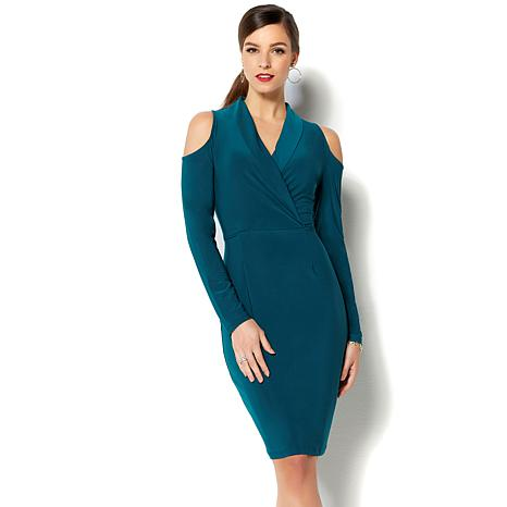 c680cfcf9a4 IMAN Global Chic Luxurious Cold-Shoulder Sheath Dress - 8745201