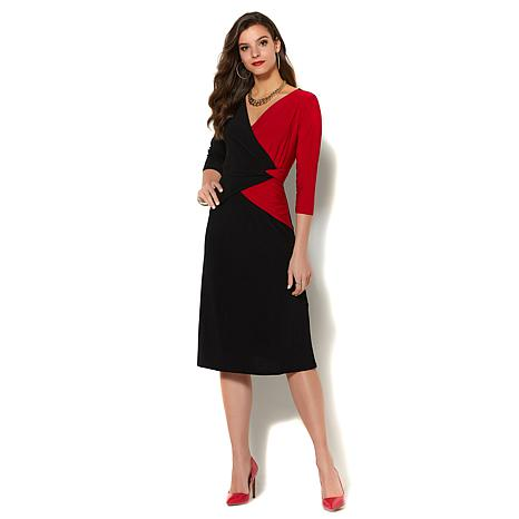 iman global chic luxurious colorblock dress 8593835 hsn