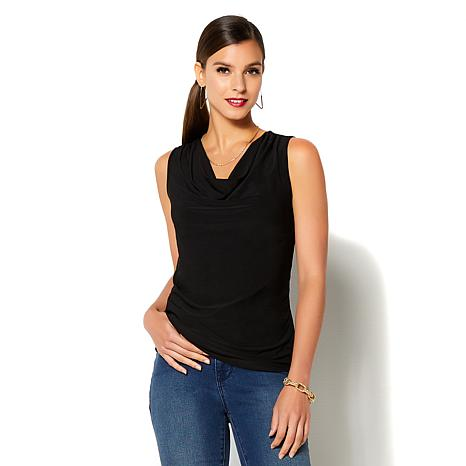IMAN Global Chic Luxurious Cowl Neck Tank - Basic