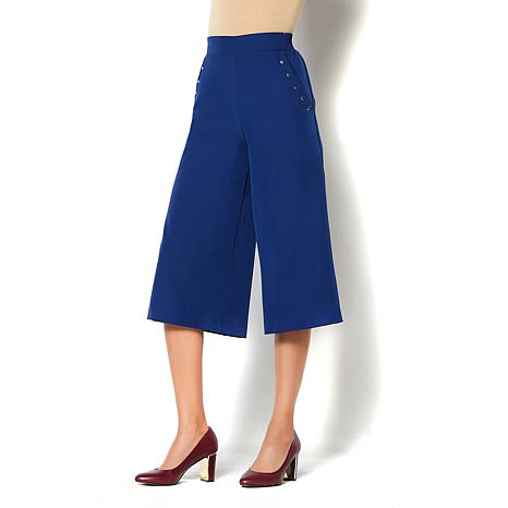 IMAN Global Chic Perfect Length Flowy Pull-On Culotte Pant