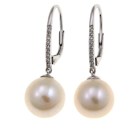 Imperial Pearls 11-12mm White Cultured Pearl Earrings