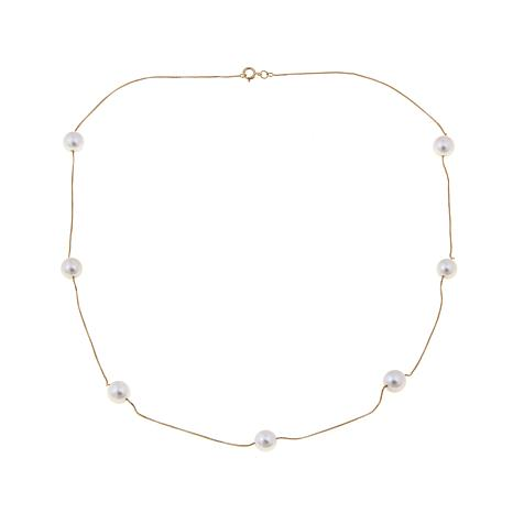 """Imperial Pearls 14K Akoya Pearl Station 18"""" Necklace"""