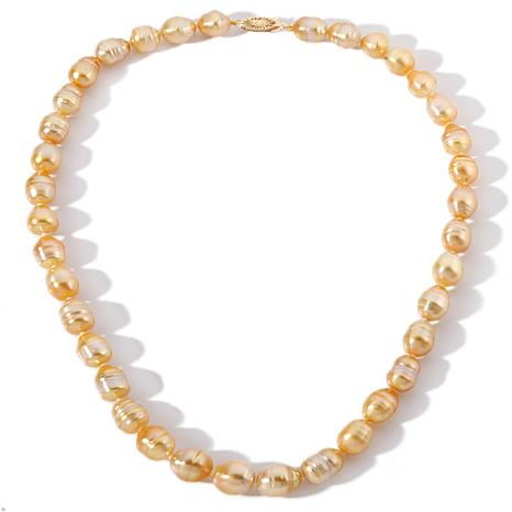 1a96a2e84003a Imperial Pearls 14K 9-11mm Baroque Cultured Golden South Sea Pearl 18