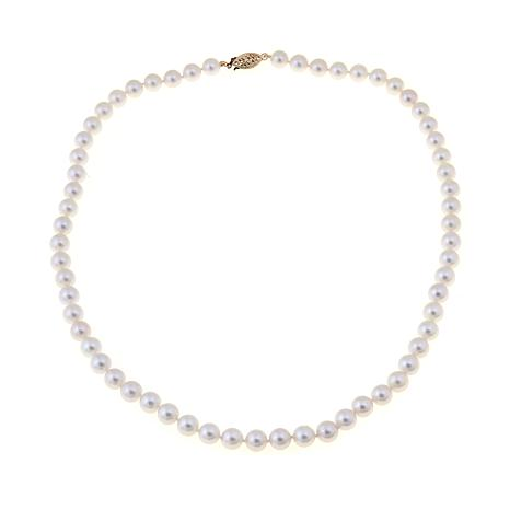 Imperial pearls 14k gold 65 7mm white cultured saltwater akoya imperial pearls 14k gold 65 7mm akoya pearl necklace aloadofball Image collections