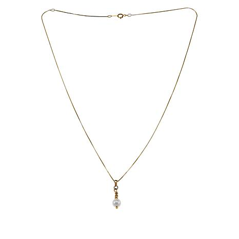 Imperial Pearls 14K Gold Cultured Akoya Pearl Beaded Pendant and Chain