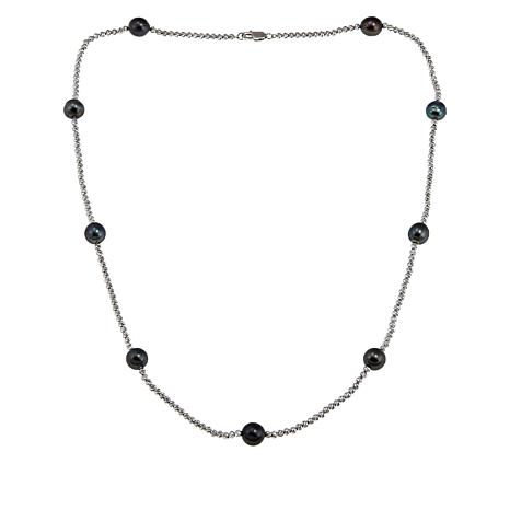 "Imperial Pearls 24"" Cultured Tahitian Baroque Pearl Station Necklace"