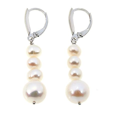 Imperial Pearls 5-10.3mm Cultured Pearl Graduated Drop Earrings