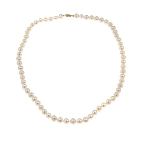 "Imperial Pearls 7-7.5mm Cultured Pearl 14K 24"" Necklace"