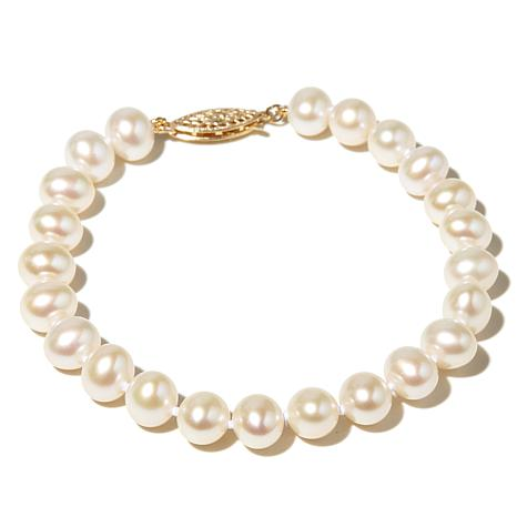 Imperial Pearls 7-7.5mm Pearl Bracelet/14K Gold Clasp