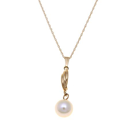 Imperial Pearls 7.5-8mm Cultured Pearl Swirl Pendant