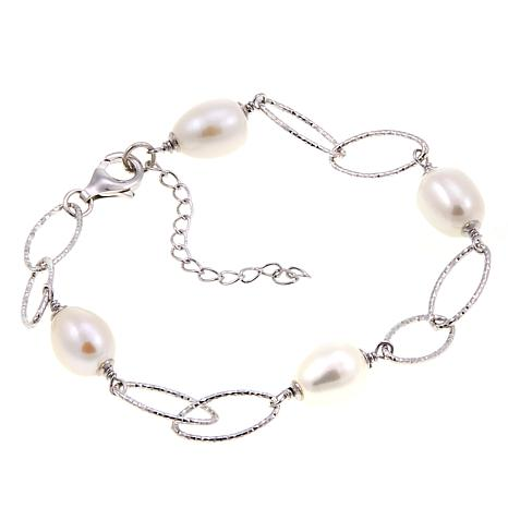 Imperial Pearls 8-9mm Cultured Pearl Oval Link Bracelet