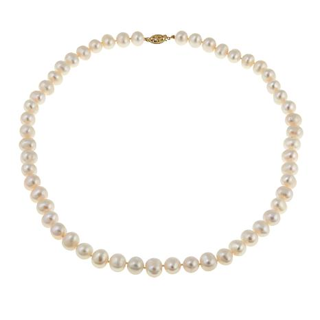 "Imperial Pearls 8.5-9.5mm White Cultured Pearl 14K 20"" Necklace"
