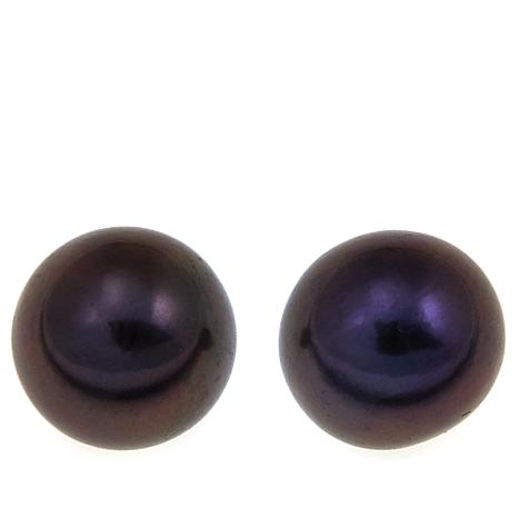 Imperial Pearls 9-10mm Peacock Cultured Pearl Studs