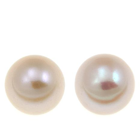 Imperial Pearls 9-10mm White Cultured Pearl Studs