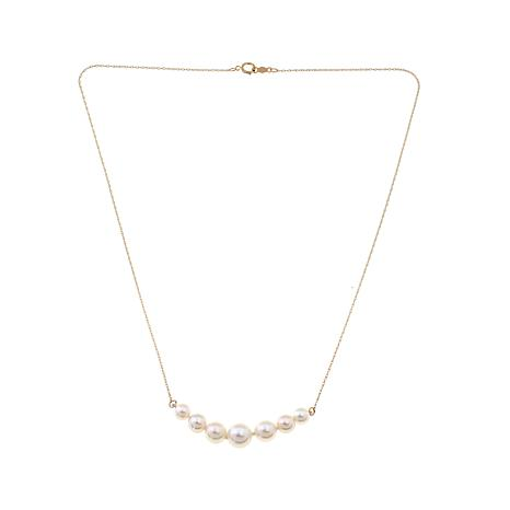 Imperial Pearls Cultured Akoya Pearl 14K Necklace