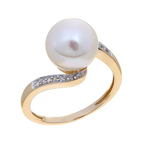 Imperial Pearls Cultured Pearl 14K Bypass  Ring