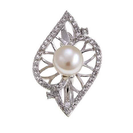 Imperial Pearls Cultured Pearl Geometric Pendant