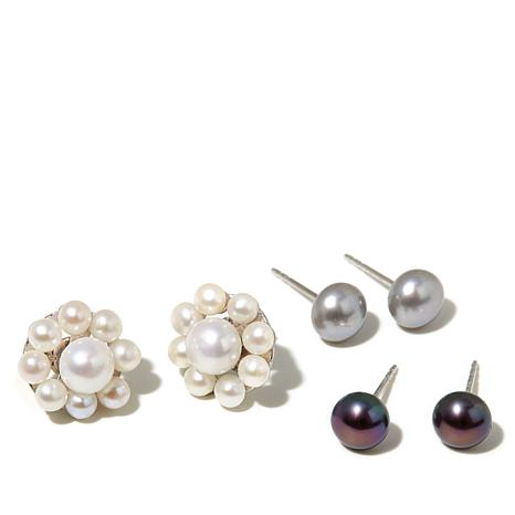 Imperial Pearls Cultured Pearl Stud and Cluster Jackets