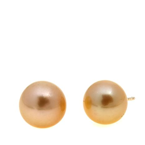 Imperial Pearls Golden South Sea Cultured Pearl Studs