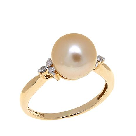 Imperial Pearls South Sea Cultured Golden Pearl Ring