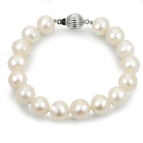 Imperial Pearls Sterling Silver 10-11mm Cultured Pearl Bracelet
