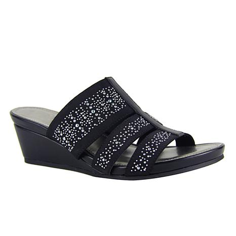 IMPO Esmine Stretch Wedge Sandal with Memory Foam