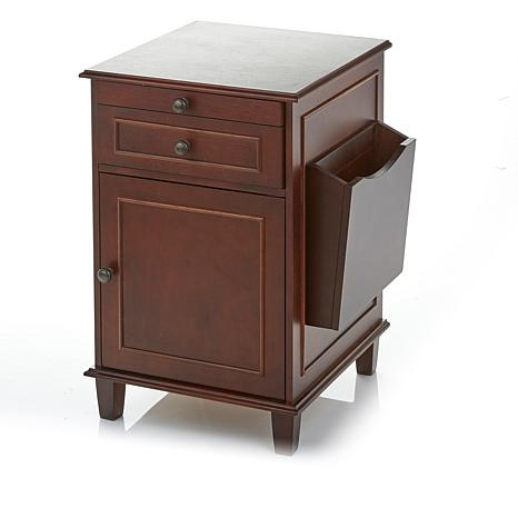 Improvements Heated Side Table with Magazine Rack