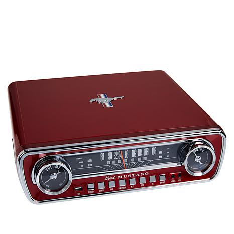 Ion Audio Ford Mustang LP 4-in-1 3-Speed Classic Car-Styled Turntable