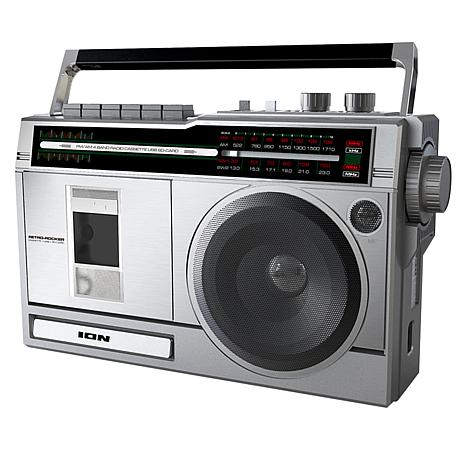 ION Audio Retro Rocker Bluetooth Boombox with Radio & Cassette Player